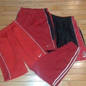 4 Basket ball shorts Red & Black Nike Lands End XL